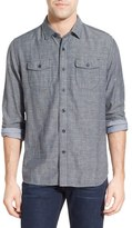 Grayers 'Capel' Regular Fit Double Cloth Herringbone Sport Shirt