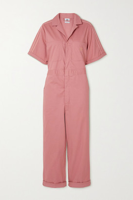 adidas Striped Cotton-twill Jumpsuit - Pink