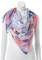 Apt. 9 Watercolor Floral Square Scarf