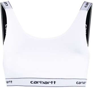 Carhartt Work In Progress Logo-Strap Cropped Top