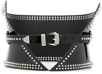 Philipp Plein Wide Studded Belt