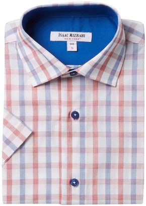 Isaac Mizrahi Short Sleeve Multi Check Shirt (Toddler, Little Boys & Big Boys)