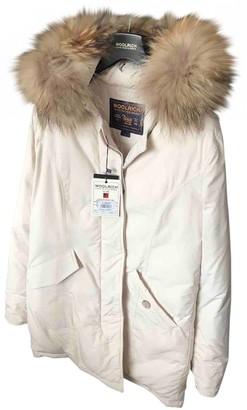 Woolrich White Fur Coat for Women