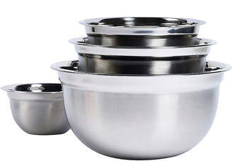 TTU BASIC ESSENTIALS Basic Essentials 4-pc. Stainless Steel Mixing Bowl Set