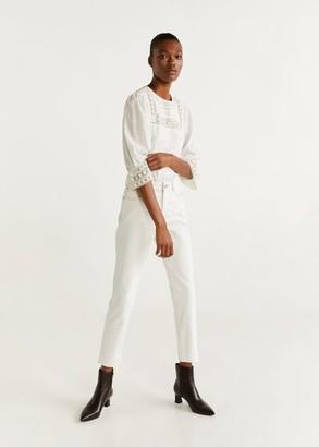 MANGO Mom slim jeans white - 1 - Women