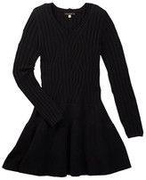 Ella Moss Long Sleeve Sweater Dress (Big Girls)