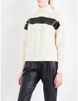 Belstaff Ladies Natural Ribbed Safiya Merino Wool Jumper