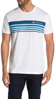 Ben Sherman Ombre Stripe Print T-Shirt
