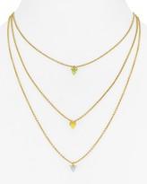 "Rebecca Minkoff Tiered Spear Necklace, 16"""