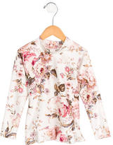 Zimmermann Girls' Rose Print Flounced Top w/ Tags