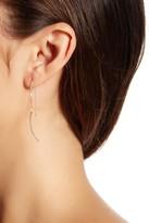 Candela 14K Gold Curved Tube Threader Earrings