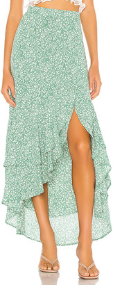 1 STATE Folk Floral Hi Low Skirt