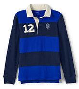 Classic Little Boys Pieced Rugby-Cobalt Blue