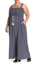 WEST KEI Smocked Square Neck Maxi Dress (Plus Size)