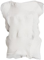 Issey Miyake Dots Stretch Pleated Top