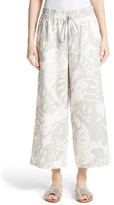 Lafayette 148 New York Women's Crop Linen Drawstring Pants