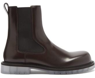 Bottega Veneta Transparent-sole Leather Chelsea Boots - Brown