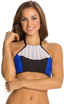 Luxe by Lisa Vogel On Your Mark High Neck Halter Bikini Top 8121237