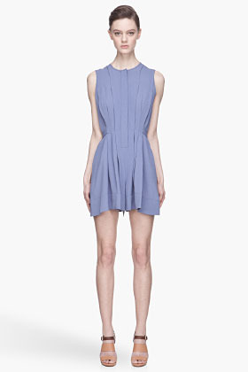 Vanessa Bruno Lavender pleated tie-waist jumpsuit