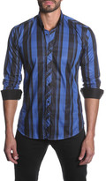 Jared Lang Long Sleeve Multi Plaid Semi-Fitted Shirt