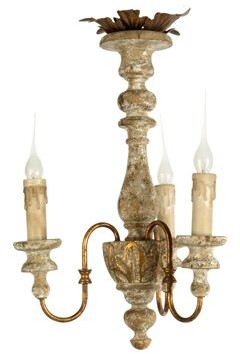 Aidan Gray Turin 3 - Light Candle Style Classic / Traditional Chandelier with Wrought Iron Accents
