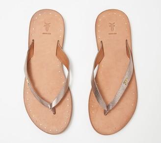 Frye Leather Thong Sandals - Azalea