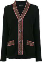 Etro contrast trim cardigan - women - Polyamide/Polyester/Viscose/Virgin Wool - 42