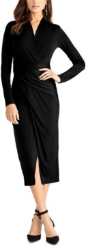 Rachel Roy Solid Bret Jersey Midi Dress