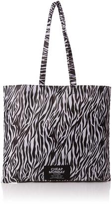 Cheap Monday Unisex Adults' Rapid Tote Zebra Canvas and Beach Tote Bag Multicolour (Zebra)