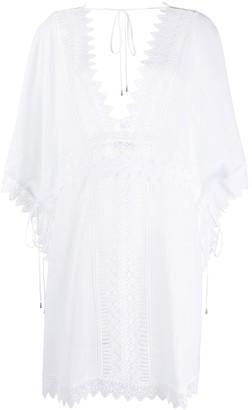 Charo Ruiz Ibiza Embroidered Short-Sleeve Dress