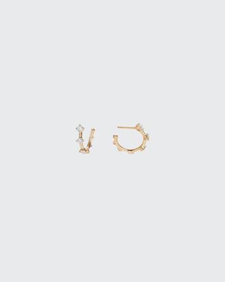 Fernando Jorge Sequence Small Hoop Earrings in 18K Gold with Diamonds