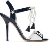 Dolce & Gabbana Navy Patent Sailor Sandals
