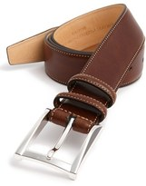 Trafalgar Men's 'Easton' Calfskin Belt