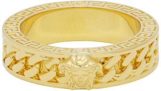 Versace Gold Chain Band Ring