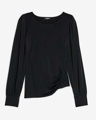 Express Asymmetrical Ruched Side Top