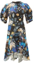 Peter Pilotto Fireworks-print Cloque Dress - Womens - Black Blue