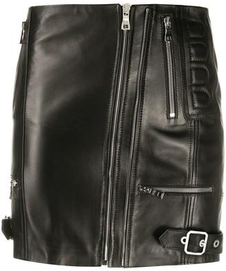 Manokhi Neisy leather mini skirt