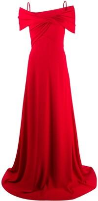 Giambattista Valli Off-Shoulder Wrap Gown
