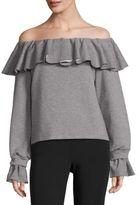 Opening Ceremony Gigi Off-the-Shoulder Flounce Sweater