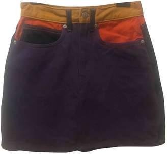 Calvin Klein \N Purple Denim - Jeans Skirts