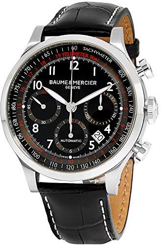 Baume & Mercier Men's BMMOA10084 Capeland Analog Display Swiss Automatic Black Watch