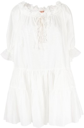 Ermanno Scervino Ruffle Detail Short-Sleeved Dress