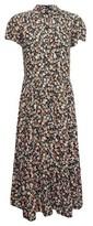 Dorothy Perkins Womens Multi Colour Floral Print Smock Shirt Dress