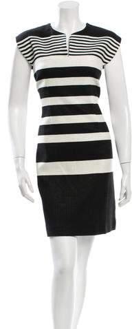 Derek Lam Striped Tweed Dress