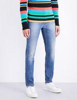Fendi Embroidered-pocket regular-fit tapered jeans