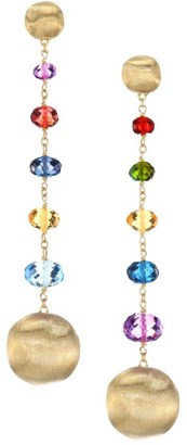 Marco Bicego Africa Mixed Gemstone & 18K Yellow Gold Linear Drop Earrings