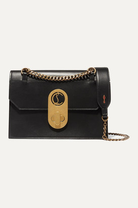 Christian Louboutin Elisa Large Leather Shoulder Bag - Black