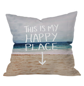 DENY Designs Leah Flores Happy Place X Beach Outdoor Throw Pillow