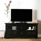 Walker Edison 52-inch Black Solid Wood TV Stand