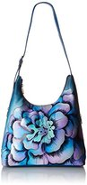 Anuschka Handpainted Leather 8079-MRG-D Large Hobo